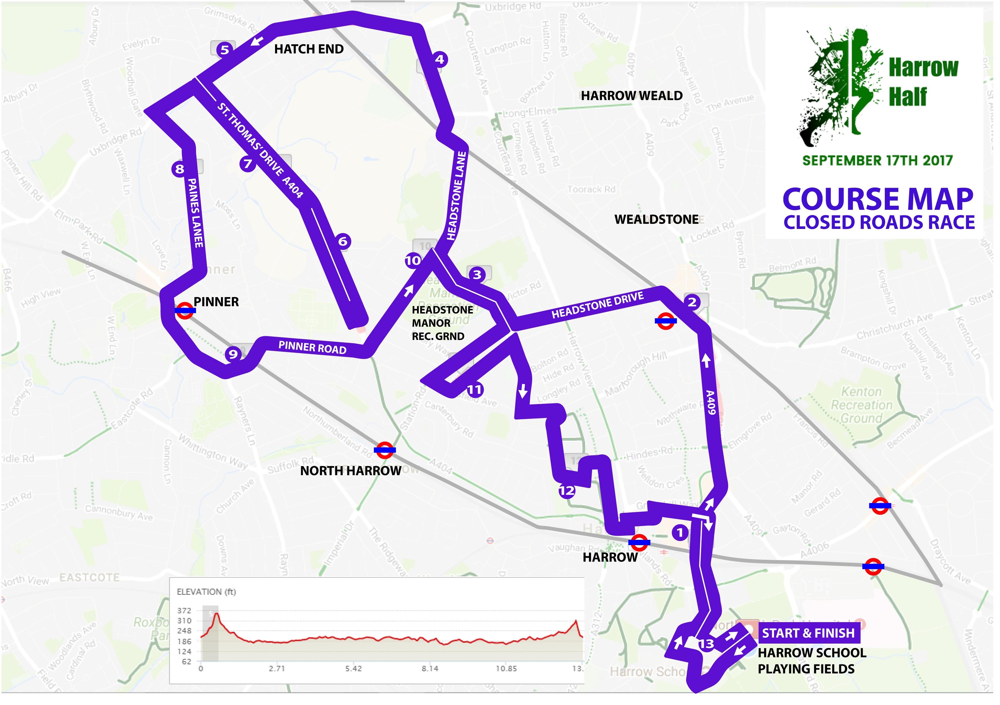 Harrow Half Map September 17 2017